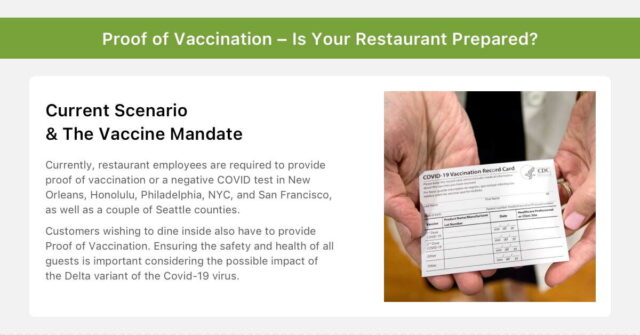 Proof of Vaccination – Is Your Restaurant Prepared?